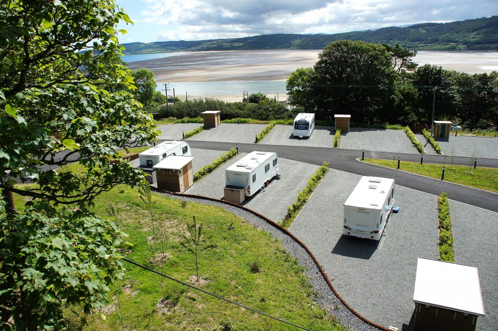 Touring site on Anglesey with sea view