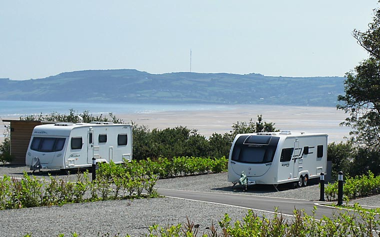 Touring caravan site on Anglesey